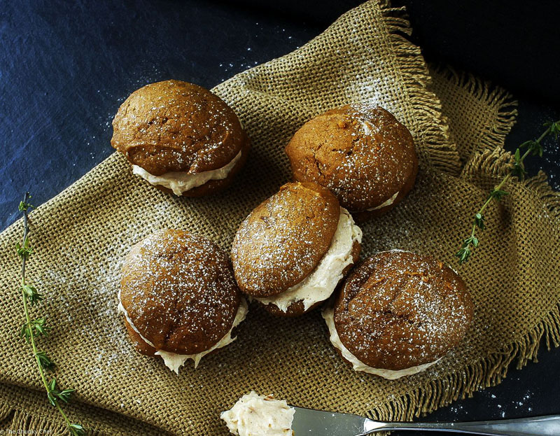 Spiced Pumpkin Whoopie Pies | 25+ Browned Butter Recipes