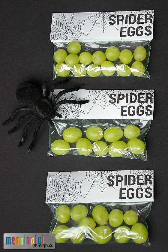 Spider Eggs Printable | 25+ Healthy Halloween Food