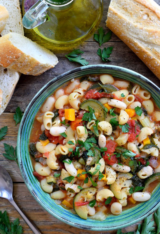 Vegetarian Pasta Fagioli | 25+ Meatless Meals
