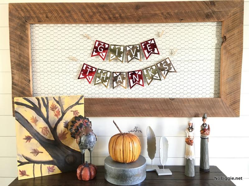 DIY printable Give Thanks Banner | NoBiggie.net