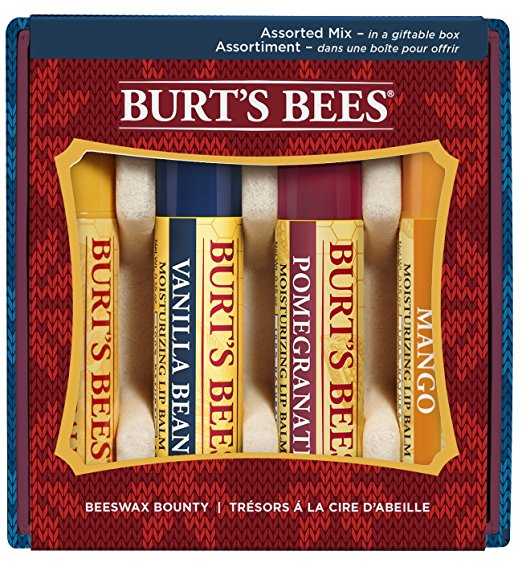 Burt's Bees Beeswax 4 Lip Balms Gift Box | 25+ Gifts for Her