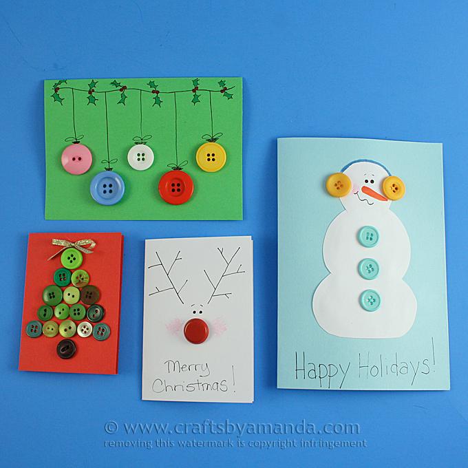 Button Cards | 25+ Handmade Christmas Cards