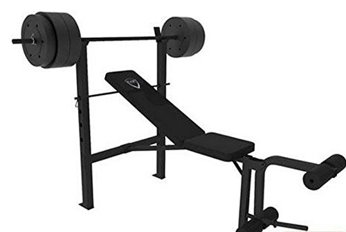 CAP Barbell Deluxe Bench with 100-Pound Weight Set | 25+ Gifts for Him