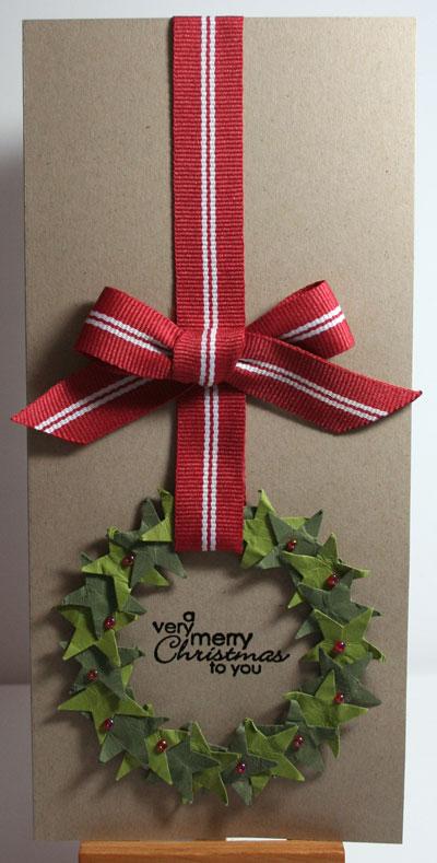 Christmas Wreath | 25+ Handmade Christmas Cards