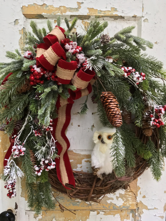 Rustic Christmas Wreath Diy.25 Beautiful Christmas Wreaths