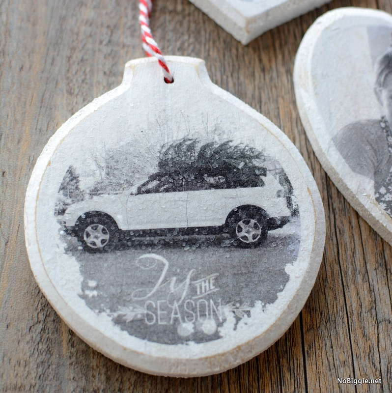 DIY Photo transfer ornament | NoBiggie.net