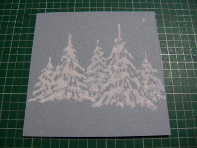 Frosted Trees | 25+ Handmade Christmas Cards
