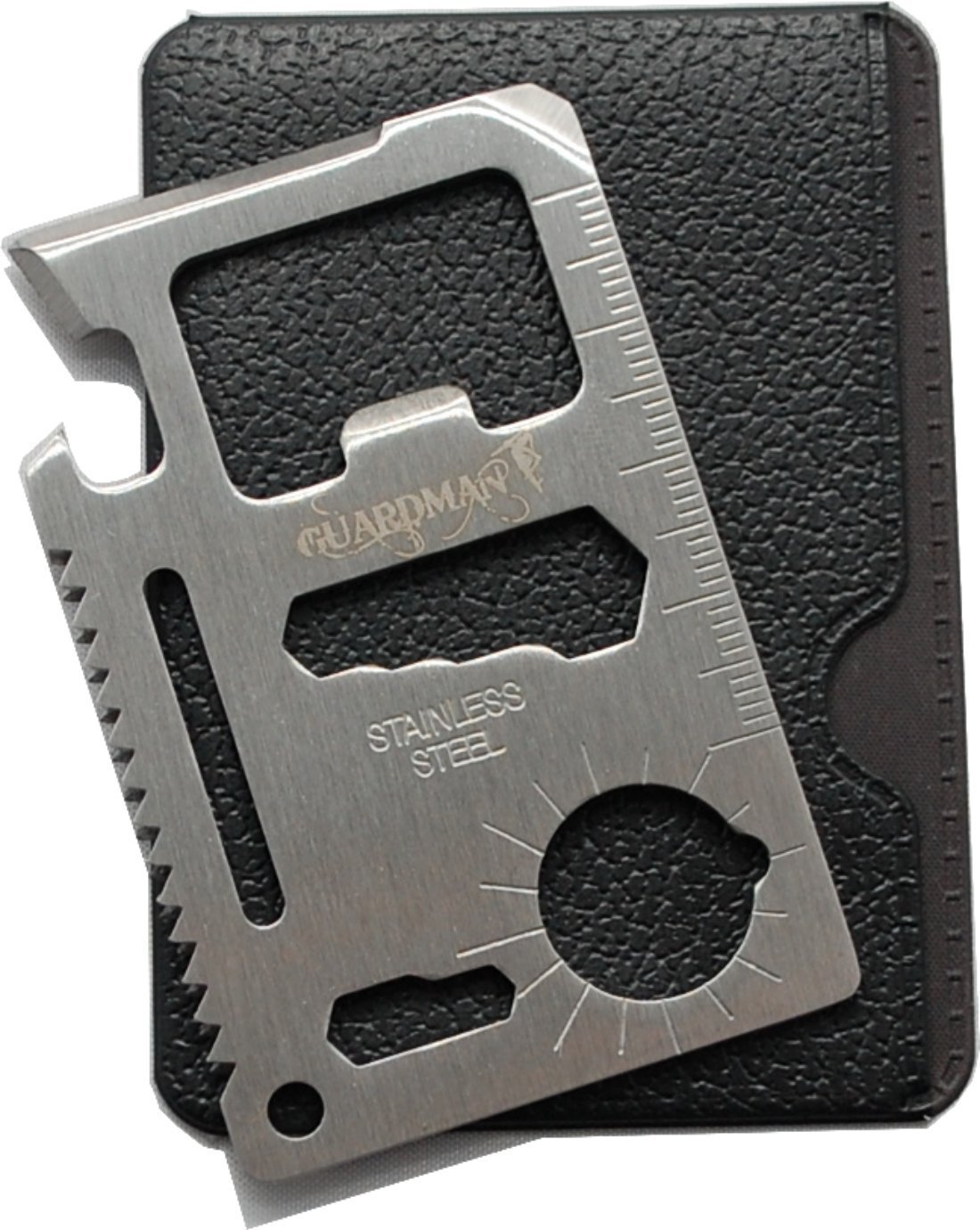 Guardman 11 in 1 Survival Card Tool Fits Perfect in Your Wallet | 25+ Gifts for Him