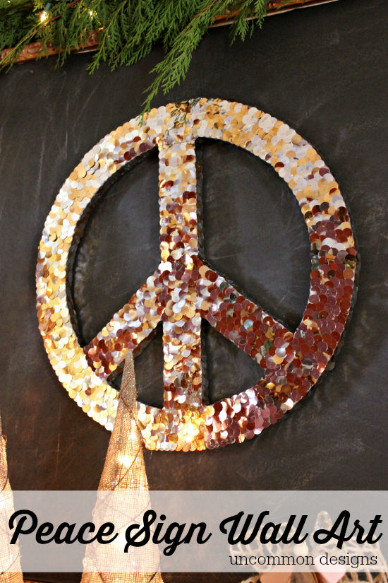 Peace Sign Wall Art | 25+ Beautiful Christmas Wreaths