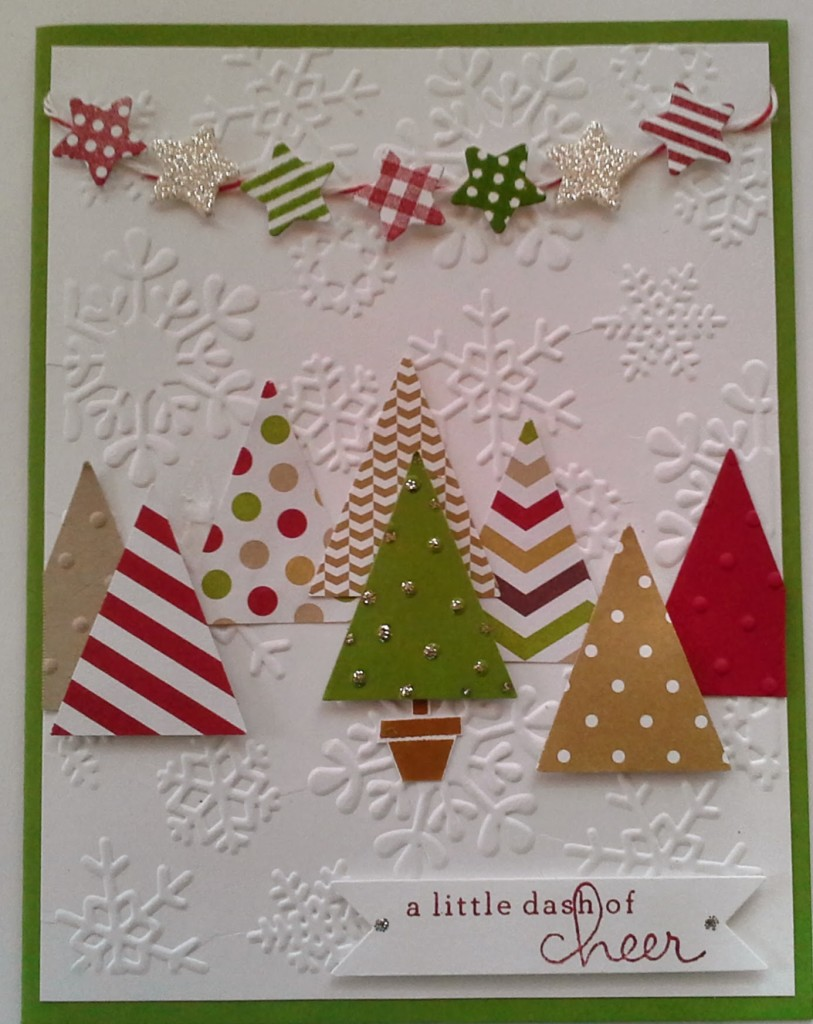 Pennant Punch Trees and Stars | 25+ Handmade Christmas Cards