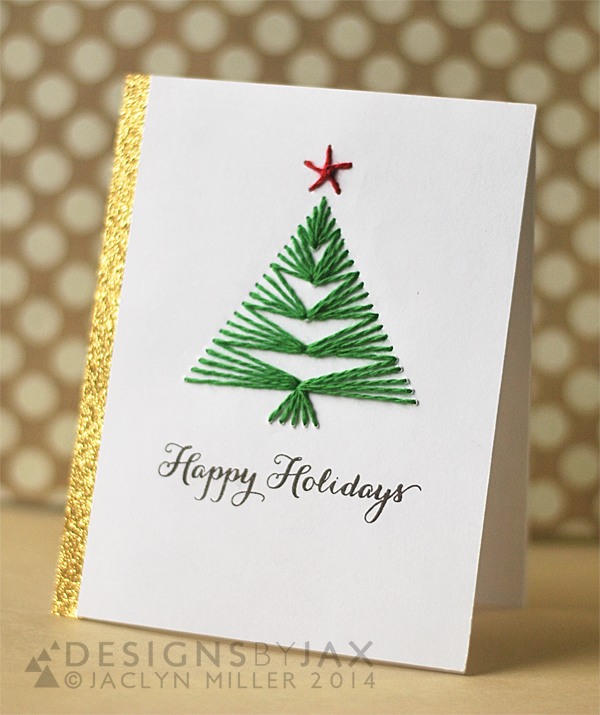 Christmas Card Tree Craft