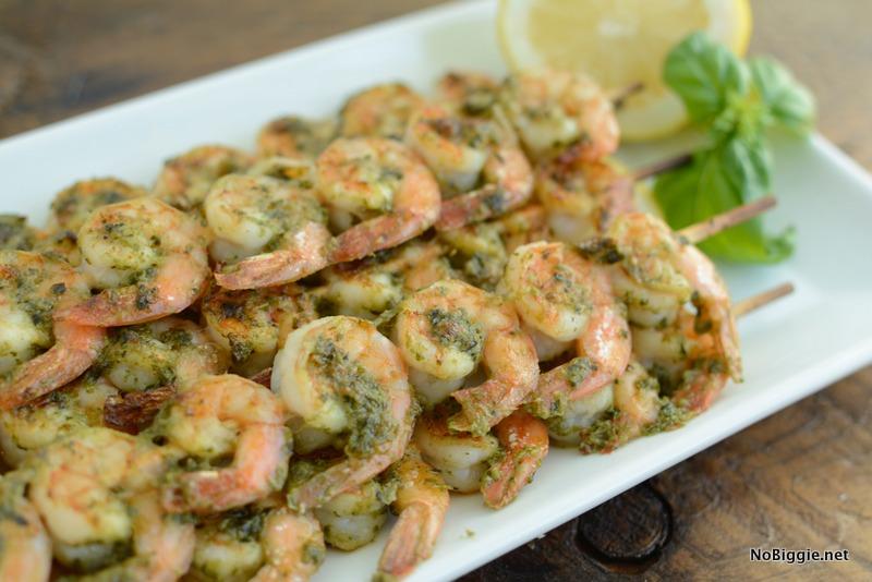 Pesto shrimp Skewers | NoBiggie.net