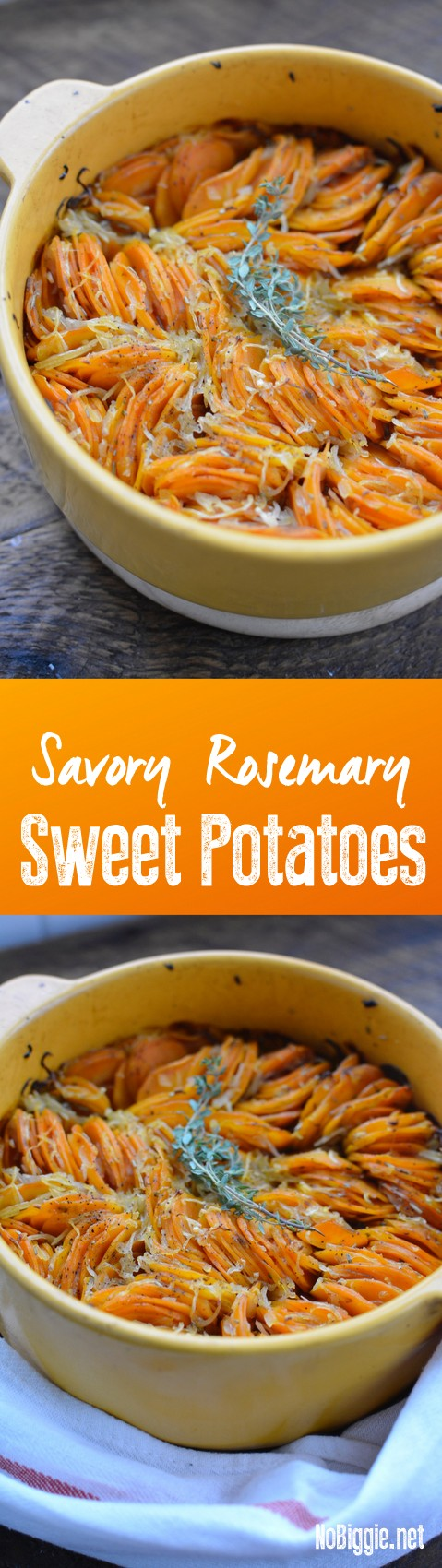 savory rosemary sweet potatoes | NoBiggie.net
