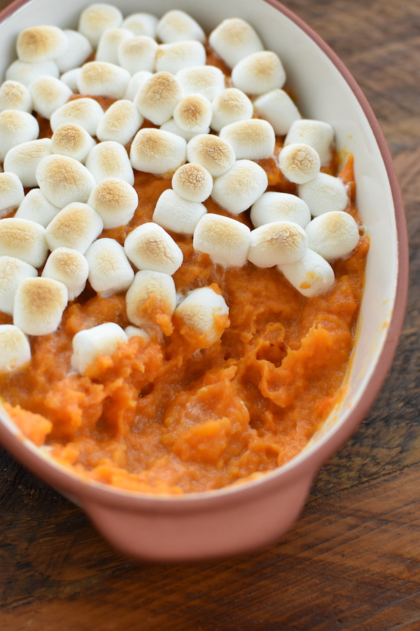yams with marshmallow topping