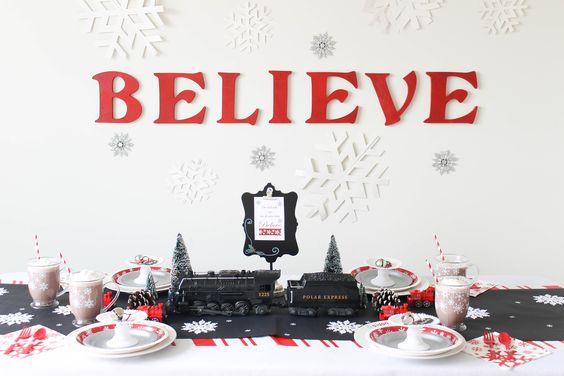 Believe- Magical Polar Express Party | 25+ Polar Express Party Ideas