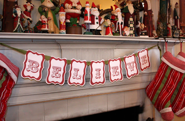 Believe Banner | 25+ Polar Express Party Ideas
