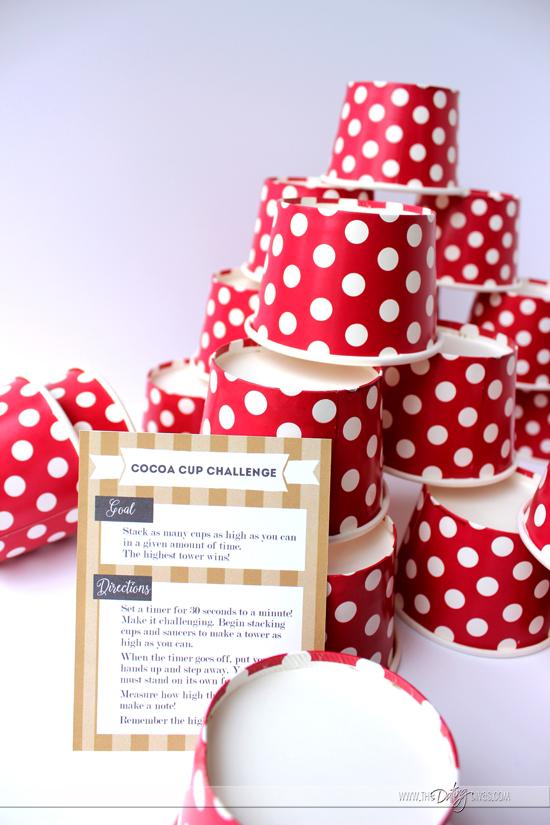 Cocoa Cup Challenge | 25+ Polar Express Party Ideas