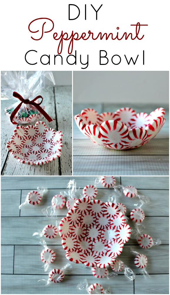 DIY Peppermint Candy Bowl | 25+ Edible Christmas Gifts