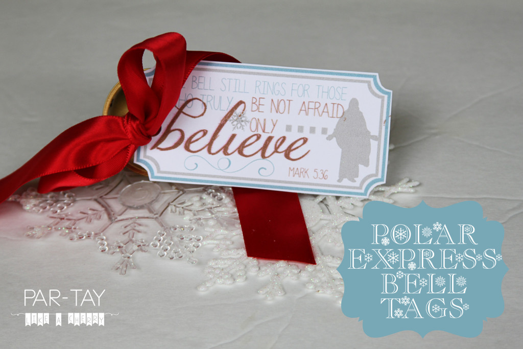 Polar Express Bell Tags | 25+ Polar Express Party Ideas