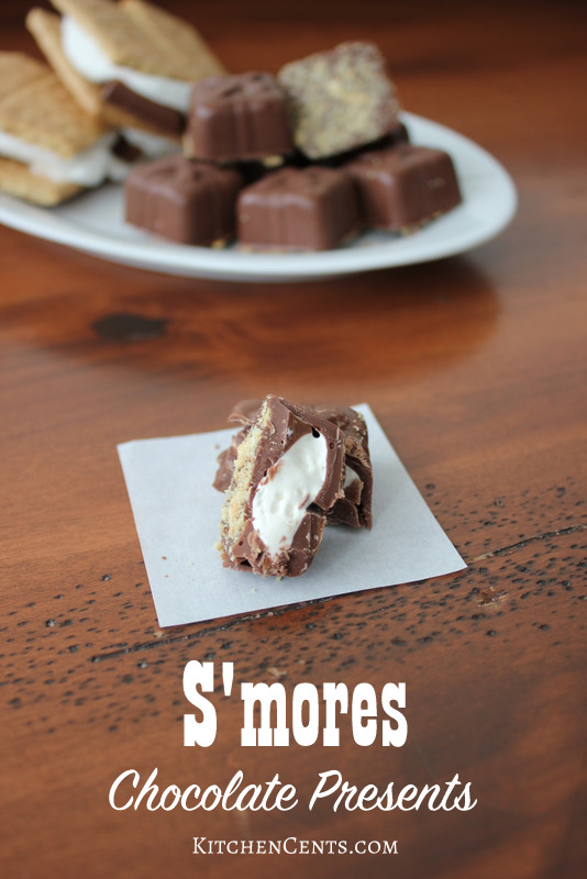 S'mores Chocolate Presents | 25+ Edible Christmas Gifts