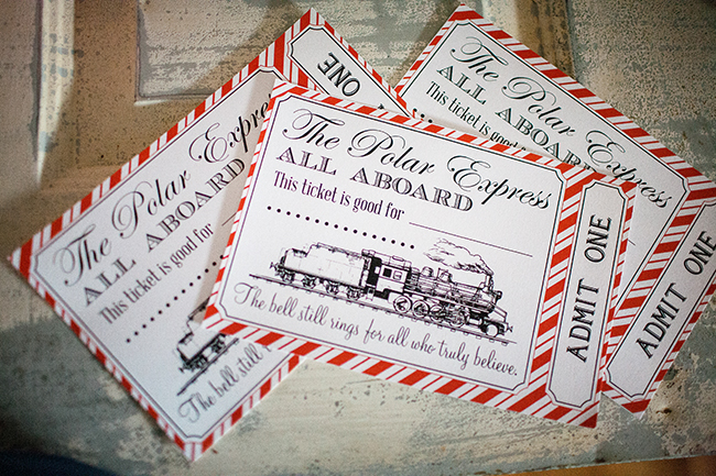 Train Tickets | 25+ Polar Express Party Ideas