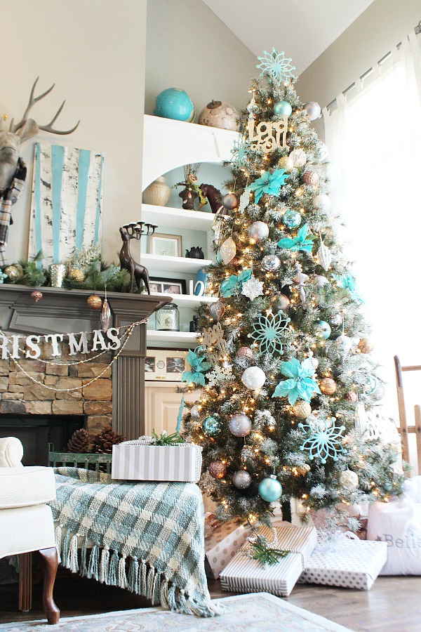 18 creative christmas tree decorating ideas - Winter Wonderland Christmas Decorating Ideas