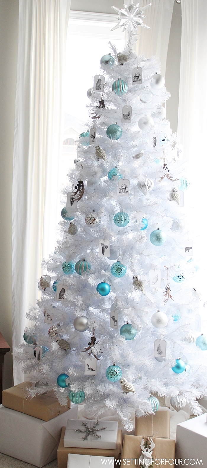 18 creative christmas tree decorating ideas - Turquoise Christmas Tree Decorations