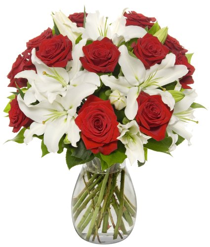 Benchmark Bouquets Roses and Oriental Lilies | 25+ Valentine's Day gifts for her