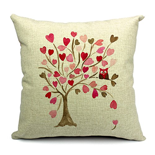 Love Tree Durable Home Square Decorative Throw Pillow | 25+ Valentine's Day gifts for her