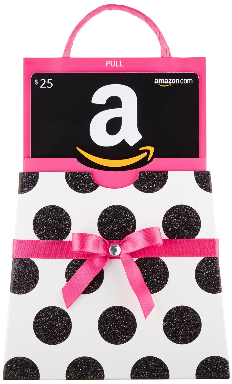 Amazon.com Gift Card with Polka Dot Bag | 25+ Valentine's Day gifts for her