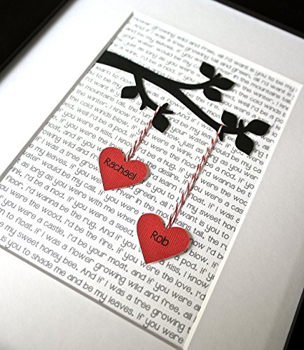 3D Unique Print with Custom Lyrics or Text | 25+ Valentine's Day gifts for her
