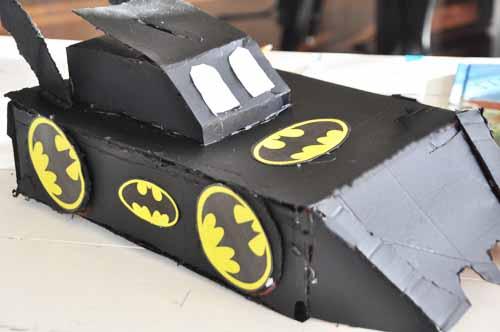 Bat Mobile Valentine Box | 25+ Valentine Boxes for boys