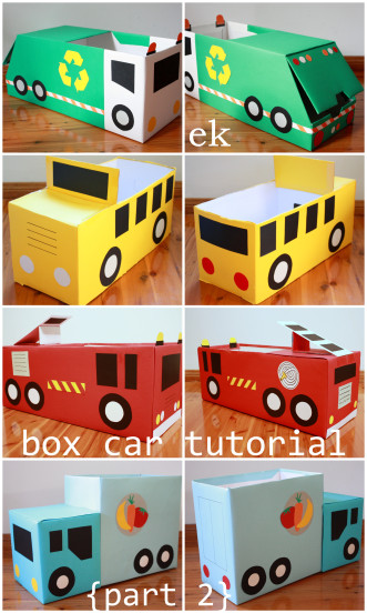 Box Cars | 25+ Valentine Boxes for boys