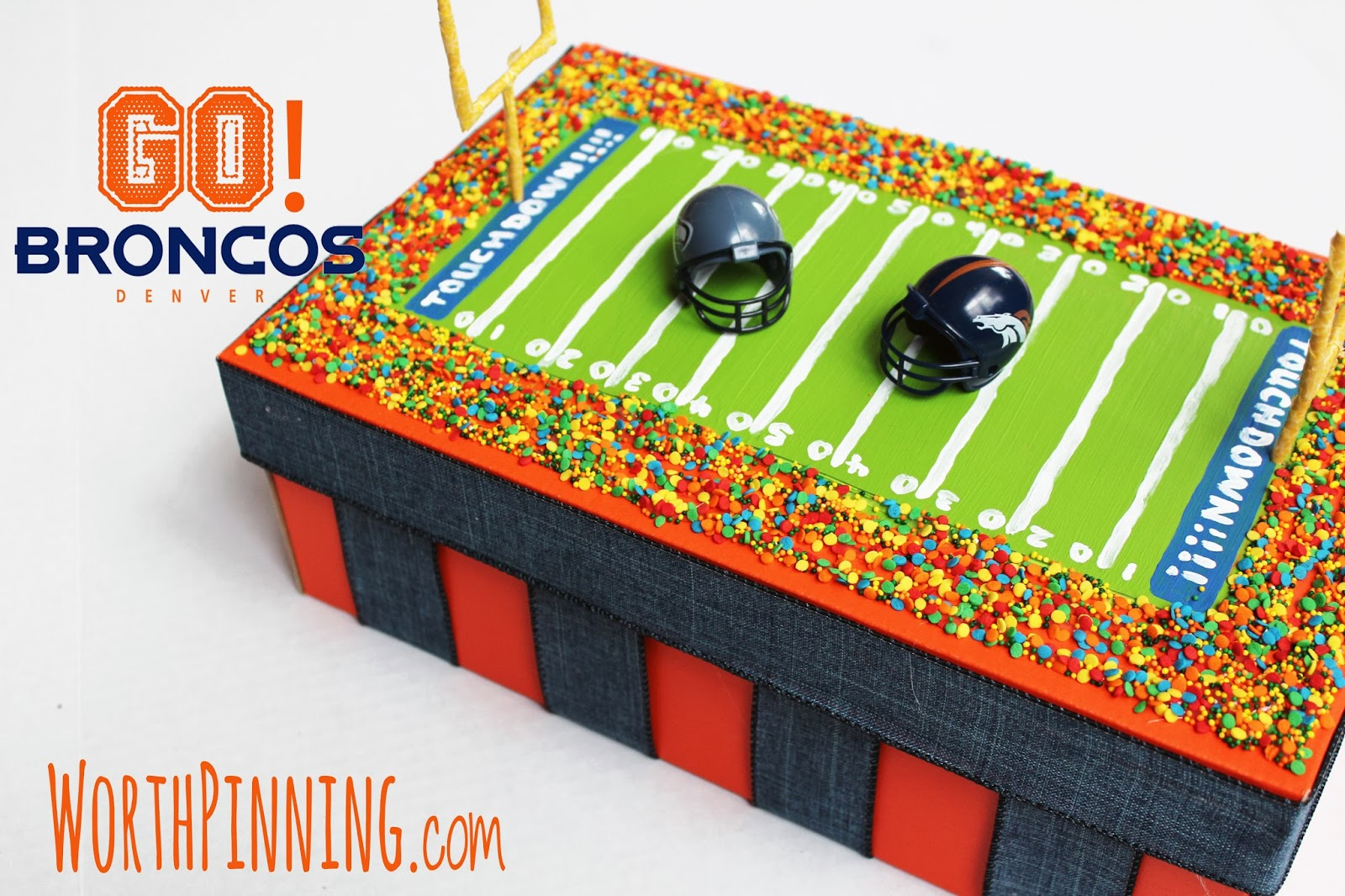 Bronco Football Box | 25+ Valentine Boxes for boys
