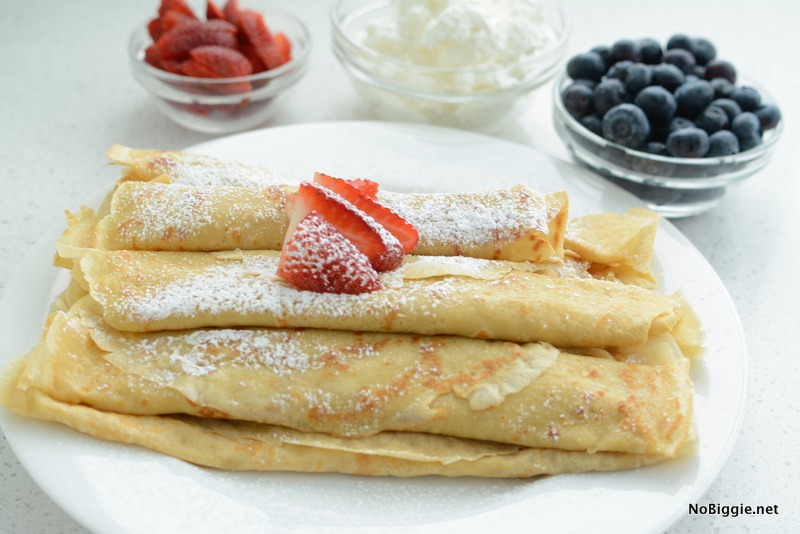 perfect crepes every time | recipe on NoBiggie.net