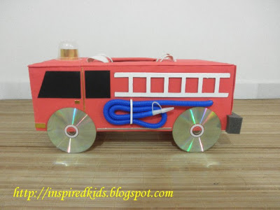 Fire Truck Box | 25+ Valentine Boxes for boys