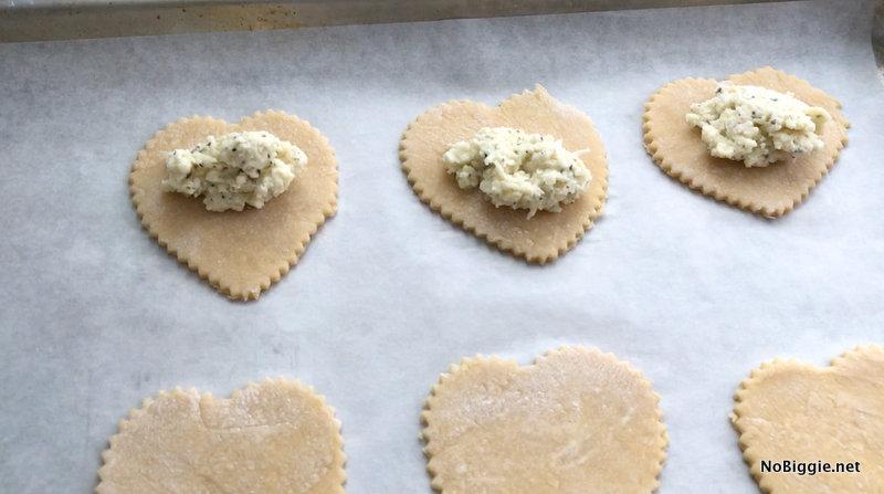 Homemade Four Cheese Ravioli Hearts | NoBiggie.net