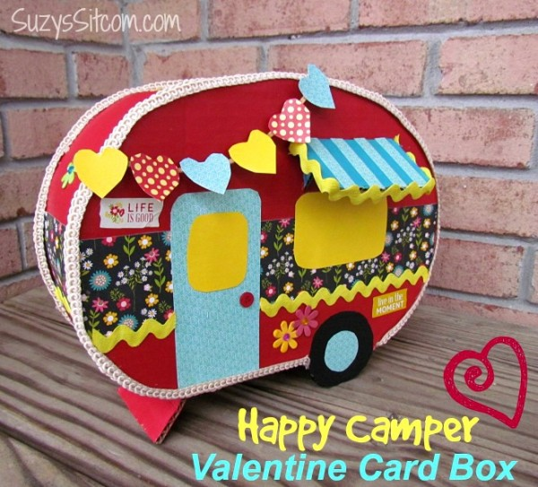 Happy Camper Valentine Card Box | 25+ Valentine Boxes for Girls