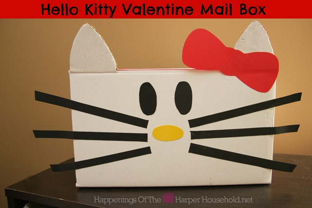 Hello Kitty Valentine Mail Box | 25+ Valentine Boxes for Girls