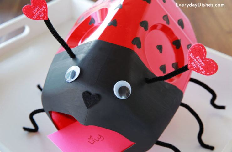 Milk Jug Valentine Lady Bug Box | 25+ Valentine Boxes for Girls