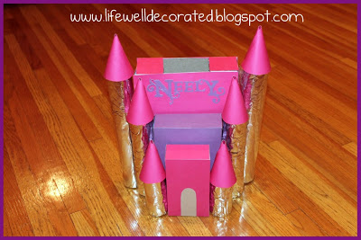 princess castle valentines box 25 valentine boxes for girls - Valentine Boxes For Girls