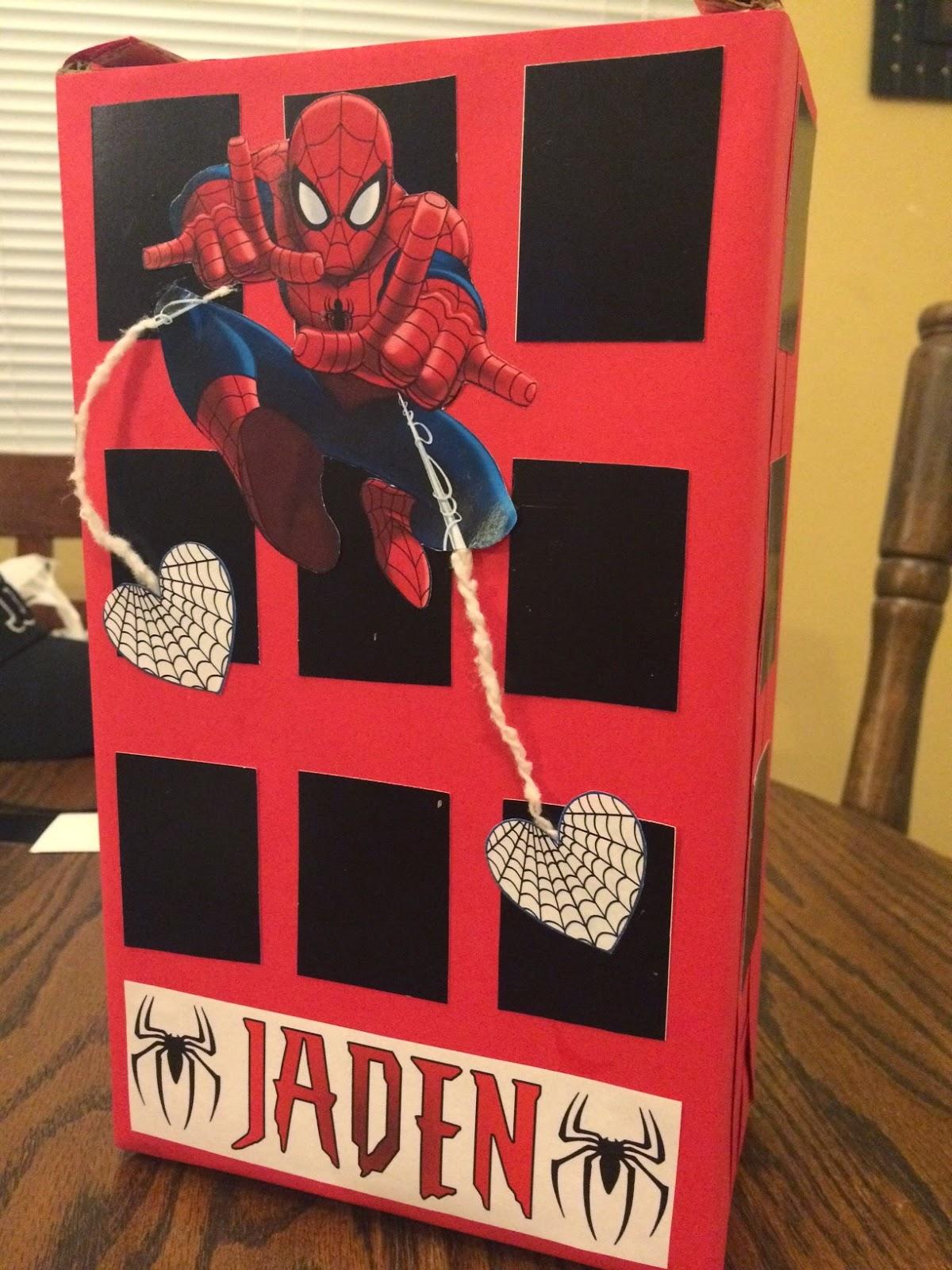 Spiderman Valentine's Day Box | 25+ Valentine Boxes for boys