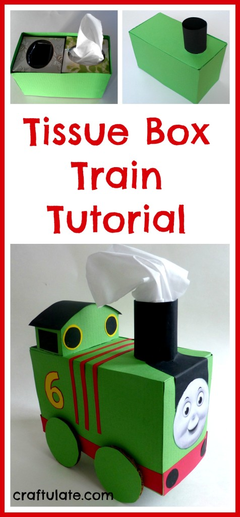 Tissue Box Train | 25+ Valentine Boxes for boys
