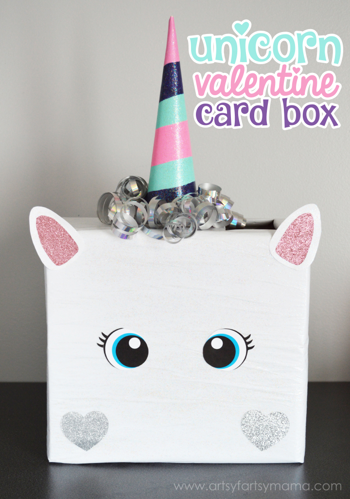 unicorn valentine card box 25 valentine boxes for girls - Valentine Boxes For Girls