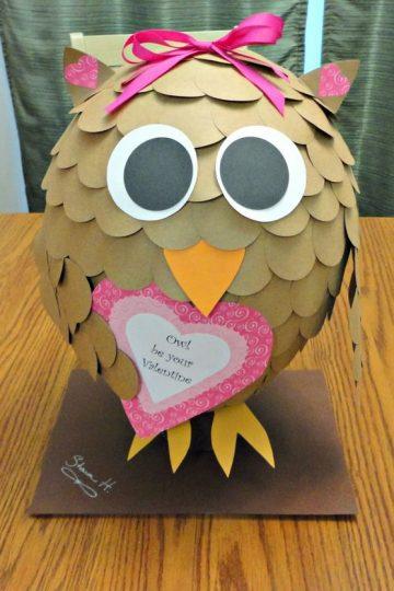 Valentine Owl   25+ Valentine's Boxes for Girls