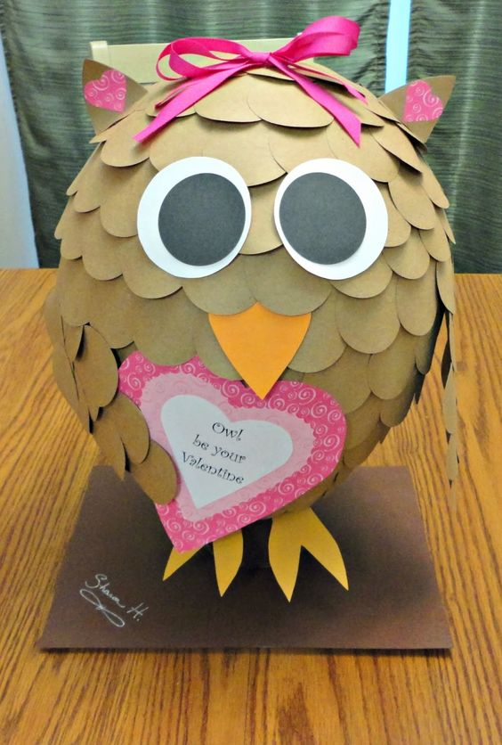 Valentine Owl | 25+ Valentine Boxes for Girls