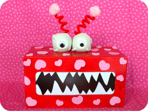 Valentine Monster | 25+ Valentine Boxes for boys
