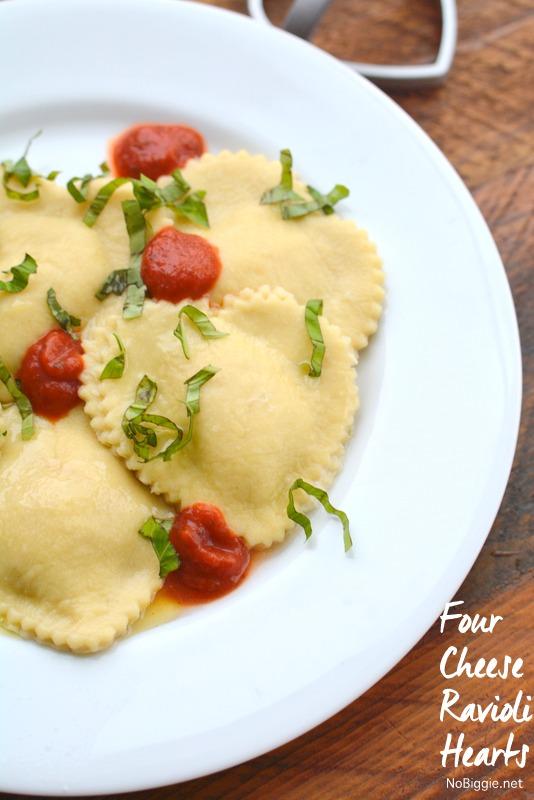 four cheese ravioli hearts | 25+ Heart Shaped Food Ideas | NoBiggie.net