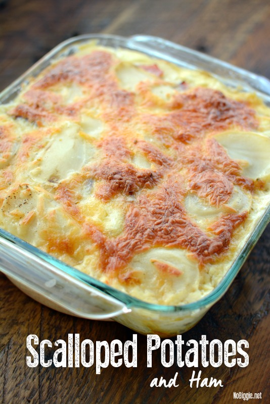 Scalloped Potatoes and Ham - a great make ahead meal. #scallopedpotatoes #ham #dinnerrecipes #makeaheadmeals #dinner
