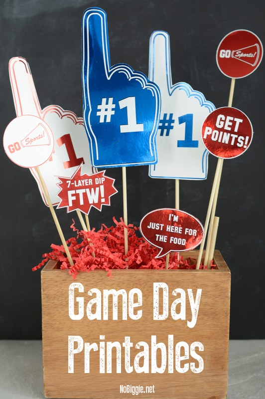 Game Day Party Printables - an easy way to add a little flair to your party spread. #gameday #gamedayprintables #printables #gamedayparty